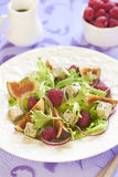 Fresh salad with blue cheese, raspberry and figs Stock Photos