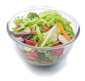 Fresh salad bowl. Closeup on a fresh salad bowl Stock Images
