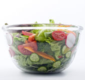 Fresh salad bowl. Closeup on a fresh salad bowl Royalty Free Stock Photo