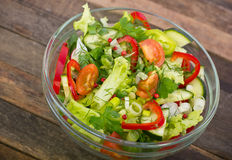 Fresh salad in the bowl Royalty Free Stock Photos