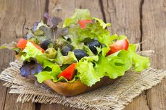 Fresh salad in a bowl Stock Photos