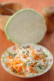 Fresh salad of cabbage and carrots Stock Images