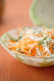 Fresh salad of cabbage and carrots Royalty Free Stock Image