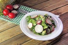 Fresh salad with cabbage and radish. Fresh vegetables salad with cabbage  and radish Royalty Free Stock Photo