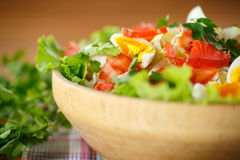 Fresh salad with cabbage and red fish Stock Image