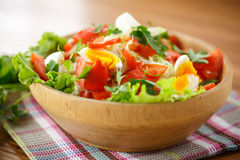 Fresh salad with cabbage and red fish Stock Images