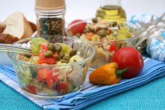 Fresh salad with capers Stock Photo