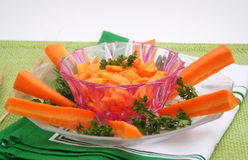 A fresh salad of carrots Royalty Free Stock Photos