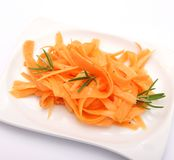 Fresh salad of carrots Stock Image