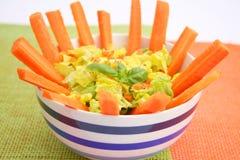 Fresh salad with carrots Stock Photos