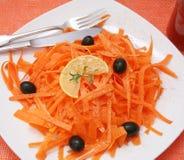 Fresh salad of carrots Royalty Free Stock Photo