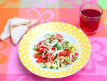 Fresh salad with cheese Royalty Free Stock Photography