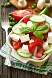 Fresh salad with cheese Royalty Free Stock Photo