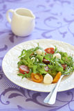 Fresh salad with cherry tomatoes and mozzarella Stock Photography