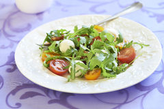 Fresh salad with cherry tomatoes and mozzarella Stock Photos