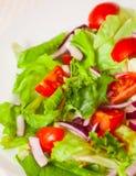 Fresh salad with cherry tomatoes Stock Photo