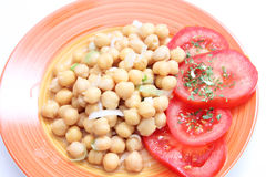 Fresh salad of chick peas Royalty Free Stock Images