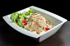 Fresh salad with chicken breast. Royalty Free Stock Images