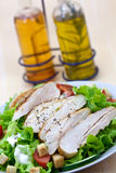 Fresh salad with chicken breast,lettuce and tomato royalty free stock images