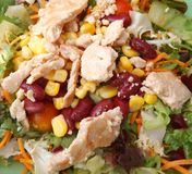 Fresh salad with chicken meat Stock Photos