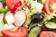 Fresh salad close up as background.  Royalty Free Stock Photos