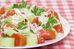 Fresh salad. Closeup of fresh greek salad Royalty Free Stock Image