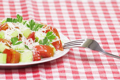 Fresh salad. Closeup of fresh greek salad Royalty Free Stock Photography