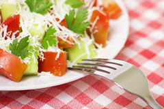 Fresh salad. Closeup of fresh greek salad Royalty Free Stock Images
