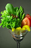 Fresh salad in cocktail glass Royalty Free Stock Photography