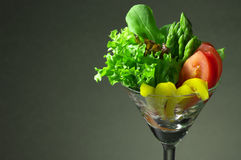 Fresh salad in cocktail glass Stock Photography