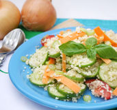 A fresh salad with couscous Royalty Free Stock Images