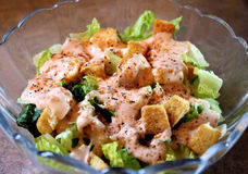 Fresh Salad With Croutons Royalty Free Stock Photo