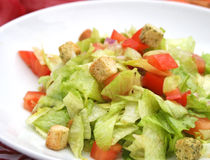 Fresh salad with croutons Stock Photography