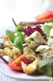 Fresh salad with croutons cesar style salade Royalty Free Stock Photo