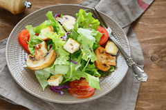 Fresh salad with croutons Royalty Free Stock Image
