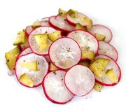 Fresh salad of cucumber and radish. A fresh salad of cucumber and radish Stock Photography