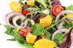 Fresh salad with cumin. Royalty Free Stock Photography