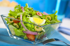 Fresh Salad with Egg Stock Photos