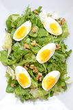 Fresh salad with eggs Royalty Free Stock Images