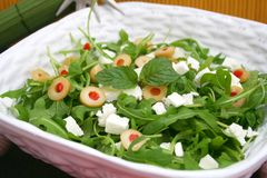 Fresh salad with feta Royalty Free Stock Images