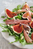 Fresh salad with figs Royalty Free Stock Photos