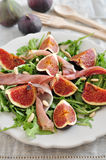 Fresh salad with figs Royalty Free Stock Images