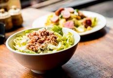 Fresh salad with fish Stock Photos