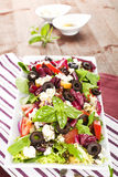 Fresh salad with fresh herbs. Stock Image