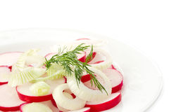 Fresh salad of fresh red radishes Stock Photo