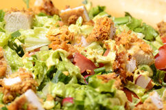 Fresh Salad. With Fried Chicken And Vegetables Royalty Free Stock Photo