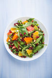 Fresh salad with fruits and greens Royalty Free Stock Photo