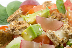Fresh salad. With fruits and vegetablesn Royalty Free Stock Photos