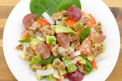 Fresh salad. With fruits and vegetablesn Stock Photos