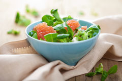 Fresh salad with grapefruit Royalty Free Stock Photos